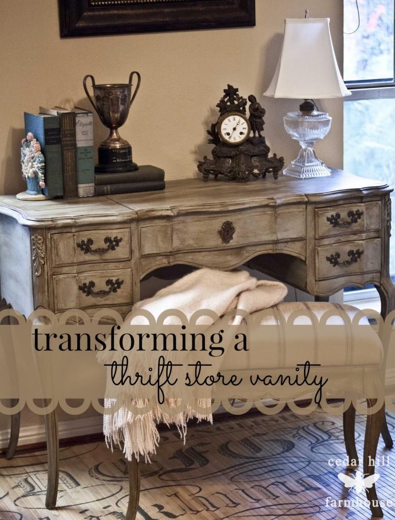 thrift store vanity