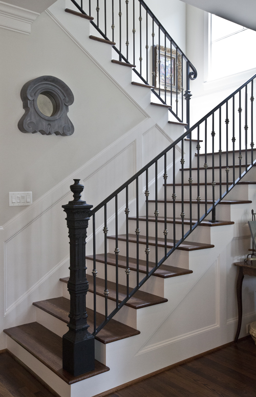 My newel post that almost wasn 39 t cedar hill farmhouse for Farmhouse stairs