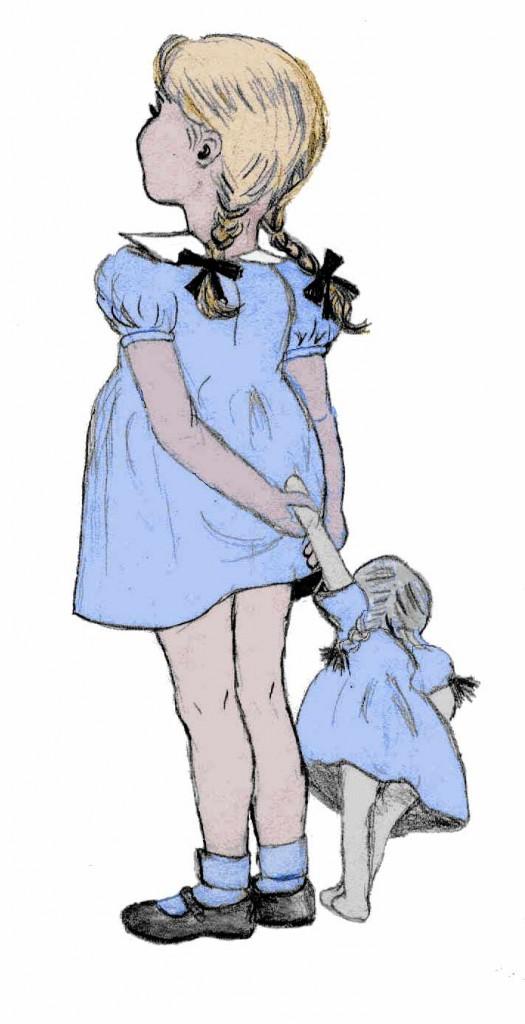 Little-blue-girl-color