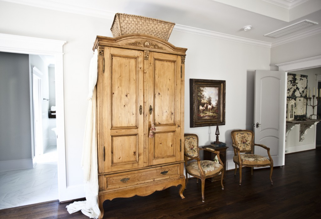 antique pine armoire