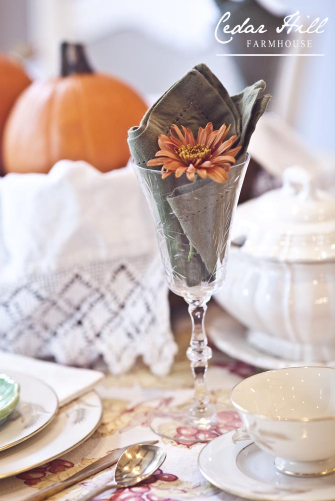 flower in glass