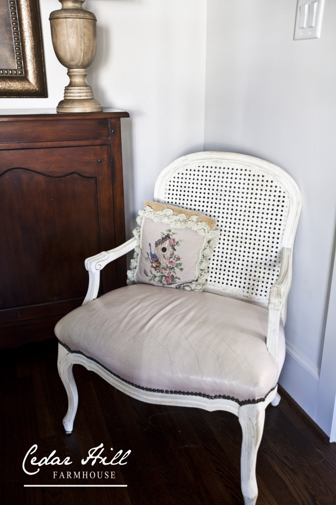 French chairs with leather seats