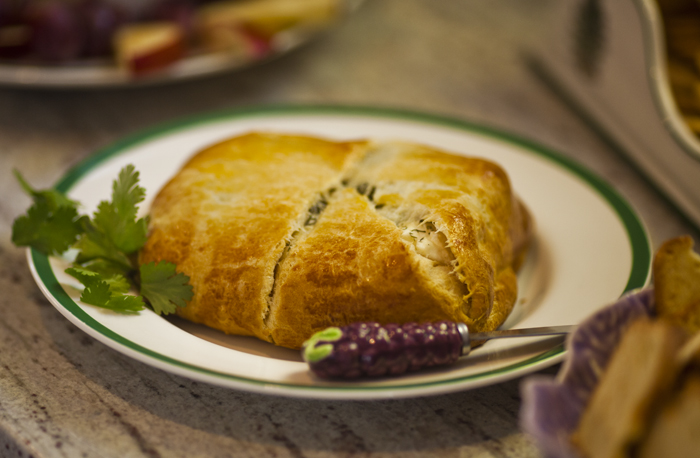 pastry wrapped cheese