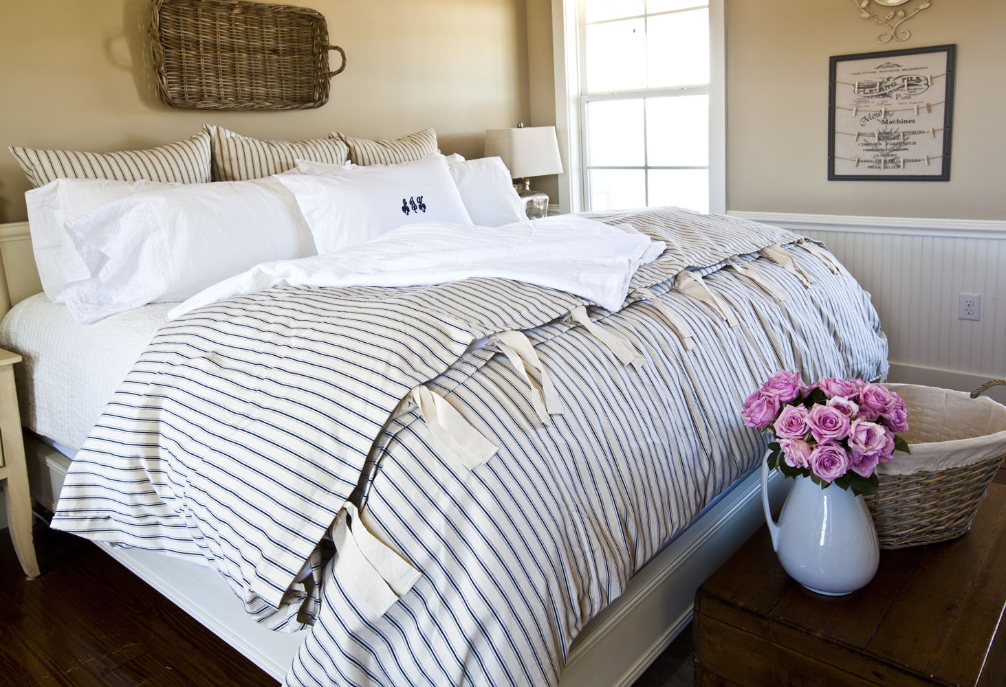 i m the guest blogger at ballard designs today cedar hill farmhouse b bed with roses