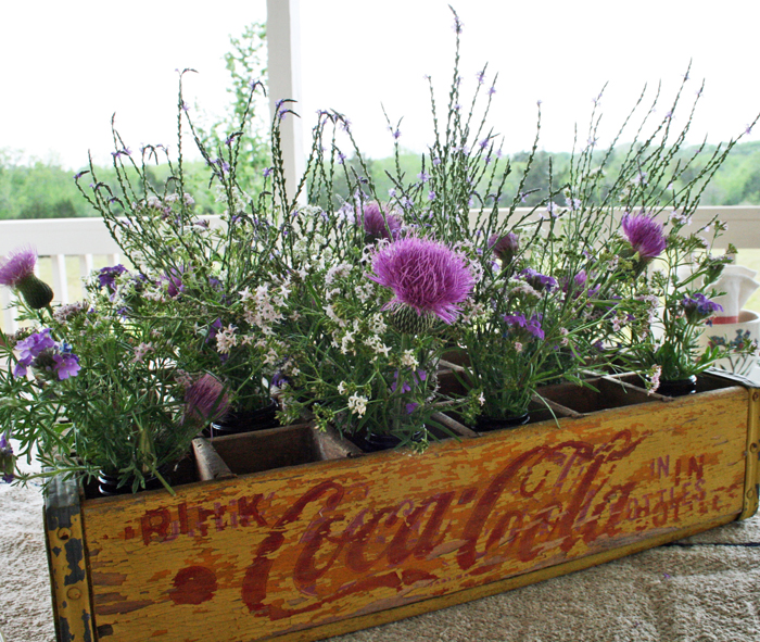 flowers in coke crate2