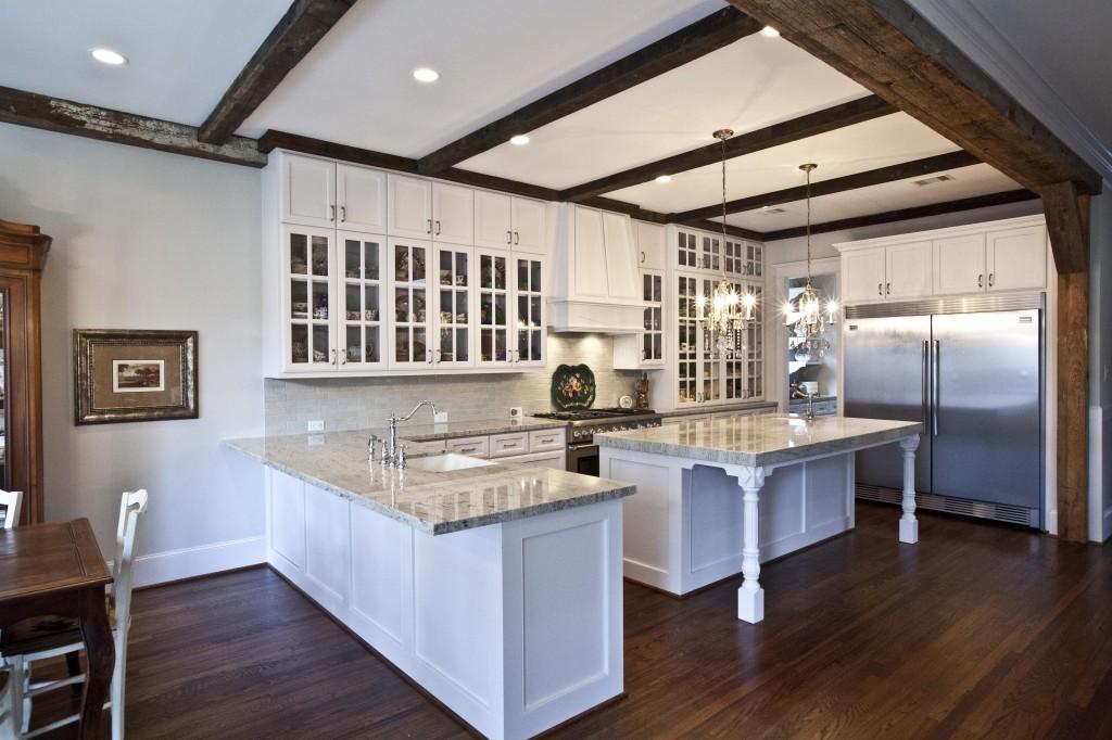 cedar hill ranch French white kitchen 1