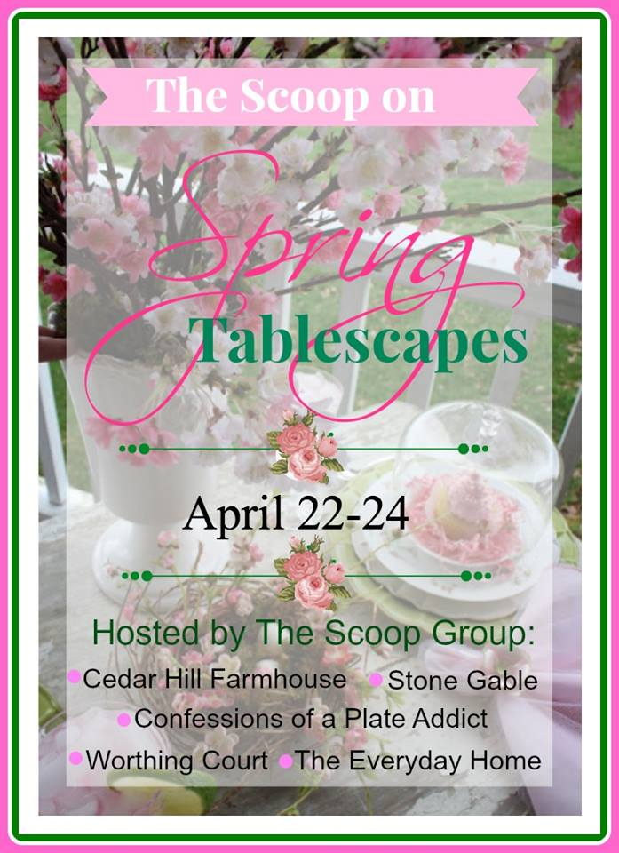 the scoop on spring tablescapes