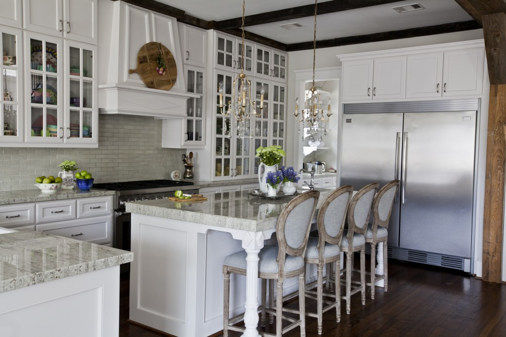 country French kitchen with beams