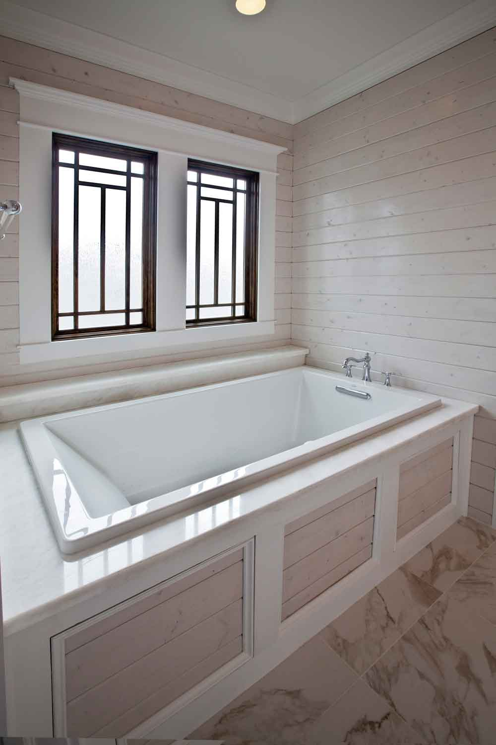 Beautiful new bathroom tour cedar hill farmhouse for New tub over old tub