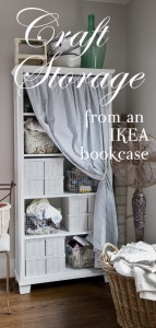 craft shelves from Ikea bookcase
