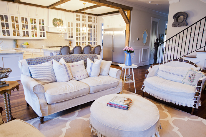 quilt on sofa