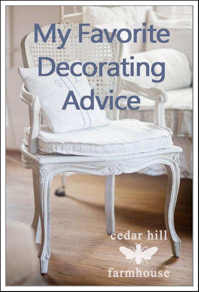 Decorating Advice my favorite decorating tip - cedar hill farmhouse