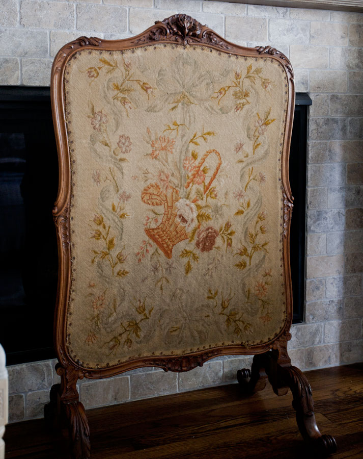 french fireplace screens. Needlepoint French Fireplace Screen Antique Fireplace Screen  Cedar Hill Farmhouse