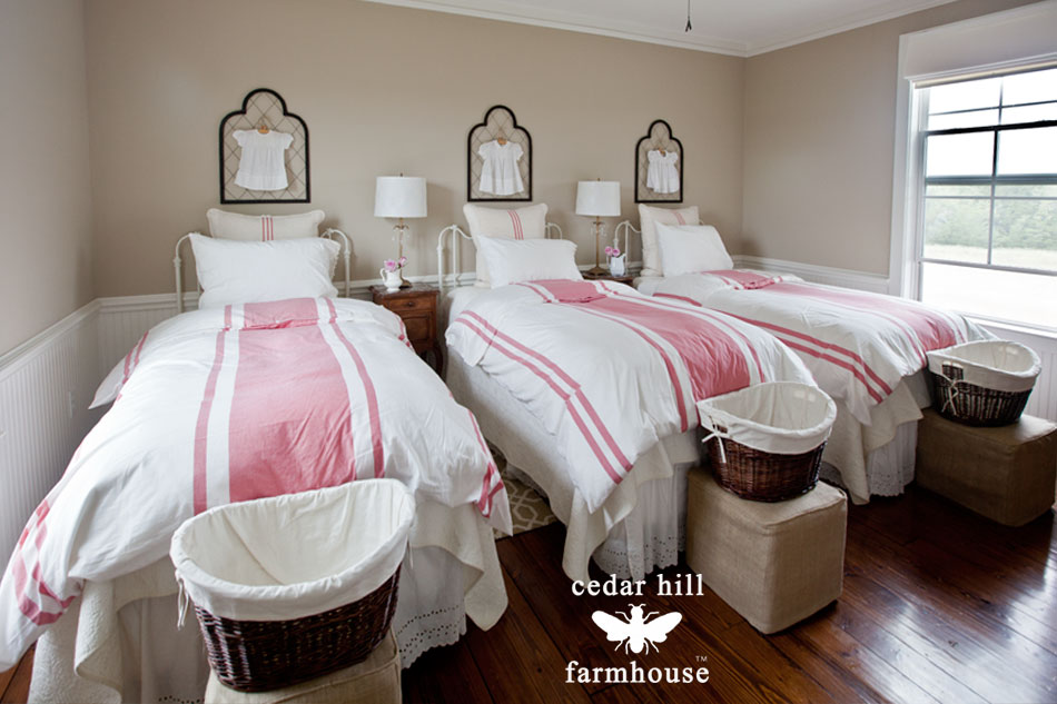 red-and-white-duvets-on-beds