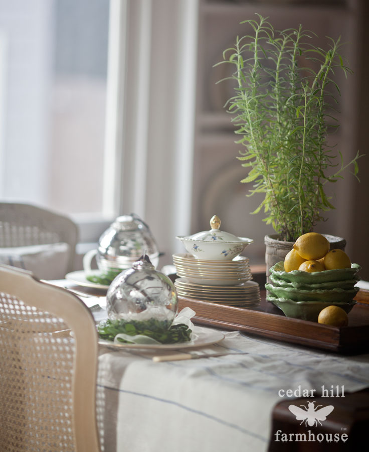 Christmas-table-with-herbs-and-lemons