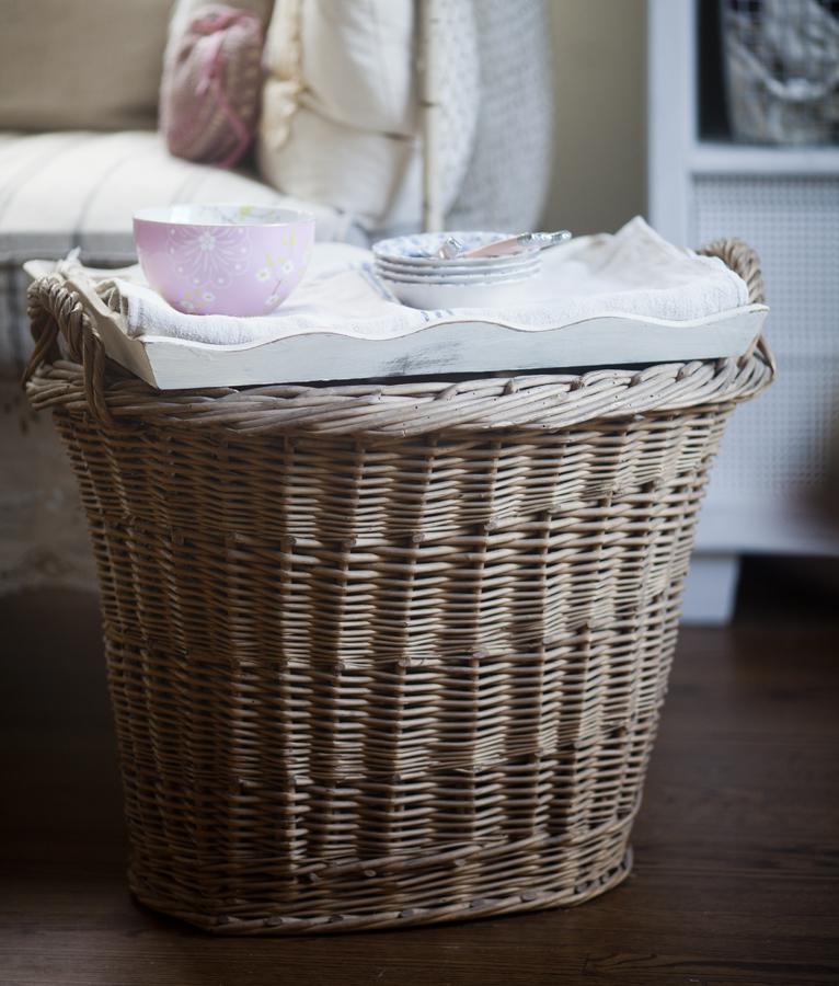 basket turned side table