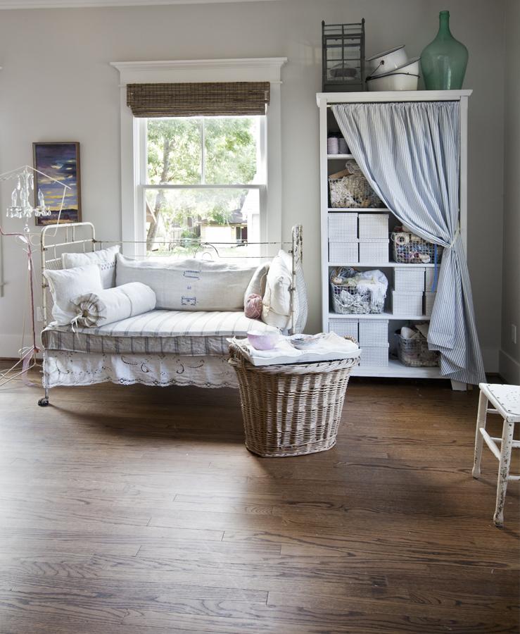 crib and bookcase