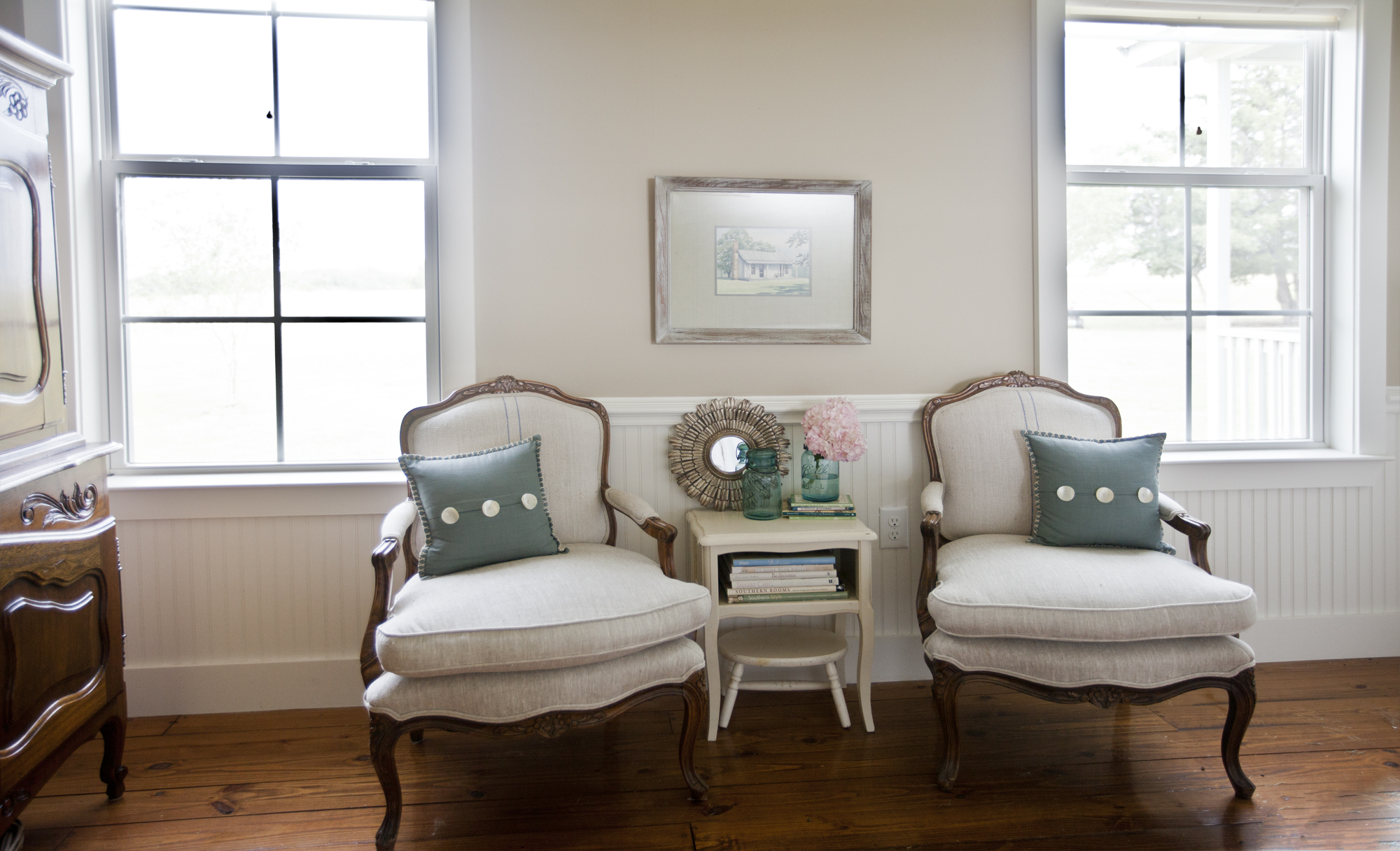 Farmhouse living room chairs - French Chairs In Farm Master