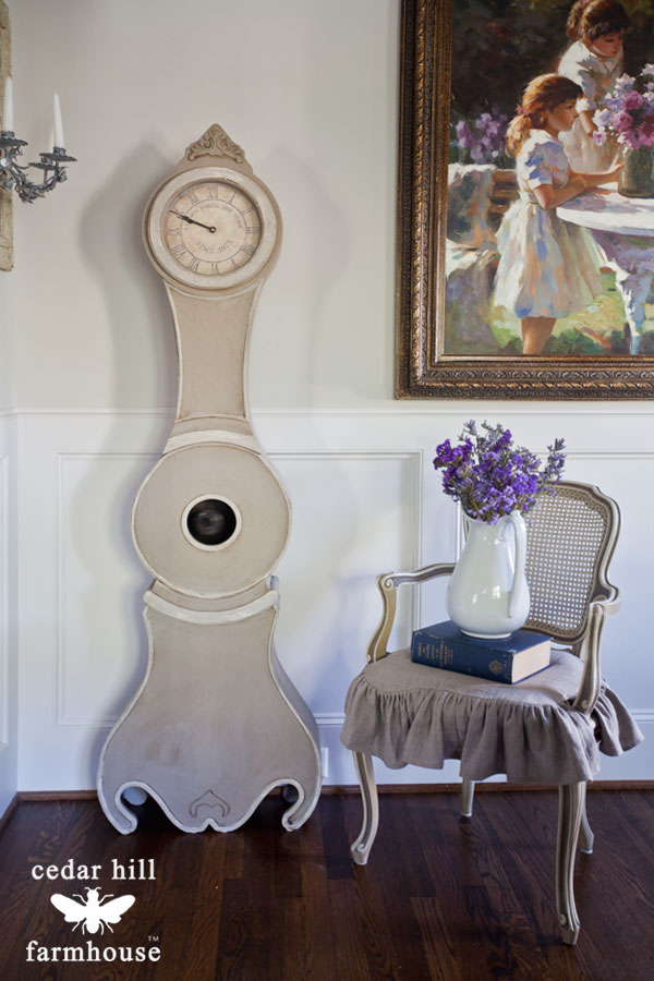 swedish-clock-and-french-chair