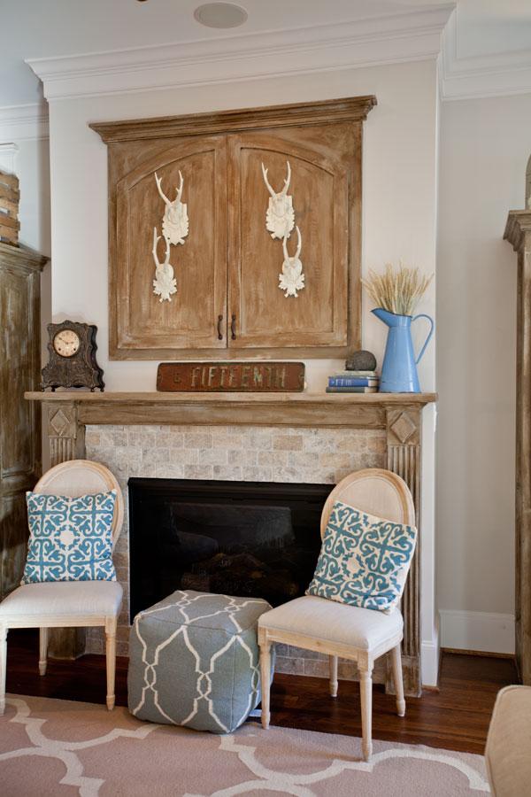 blue-ottoman-fireplace