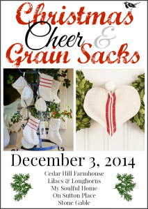 christmas cheer and grain sacks