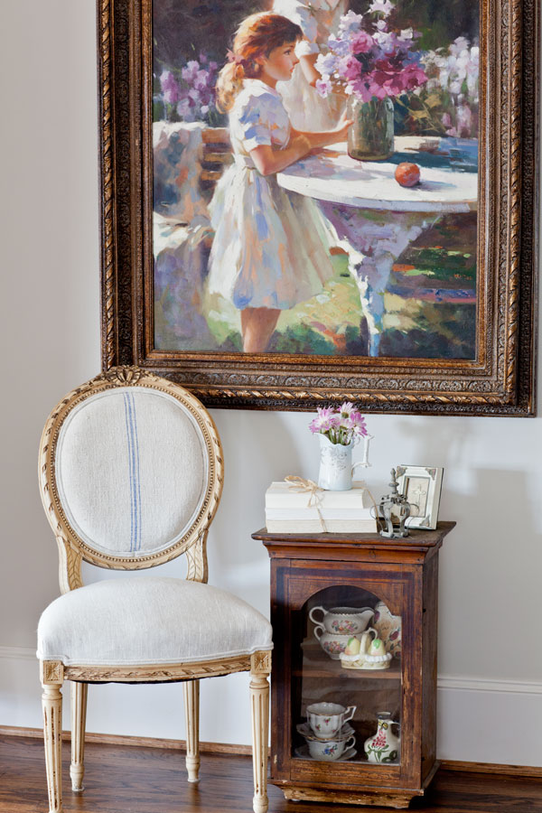 French chair and painting