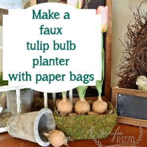 How to make a faux tulip bulb planter