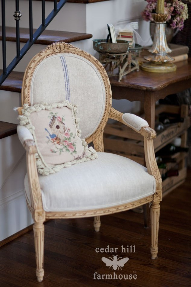 grain-sack-french-chair