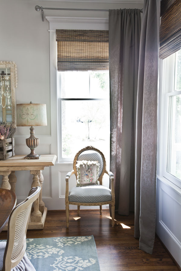 linen-curtains-and-french-chair