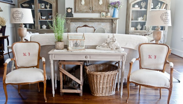 Monogrammed French Chairs