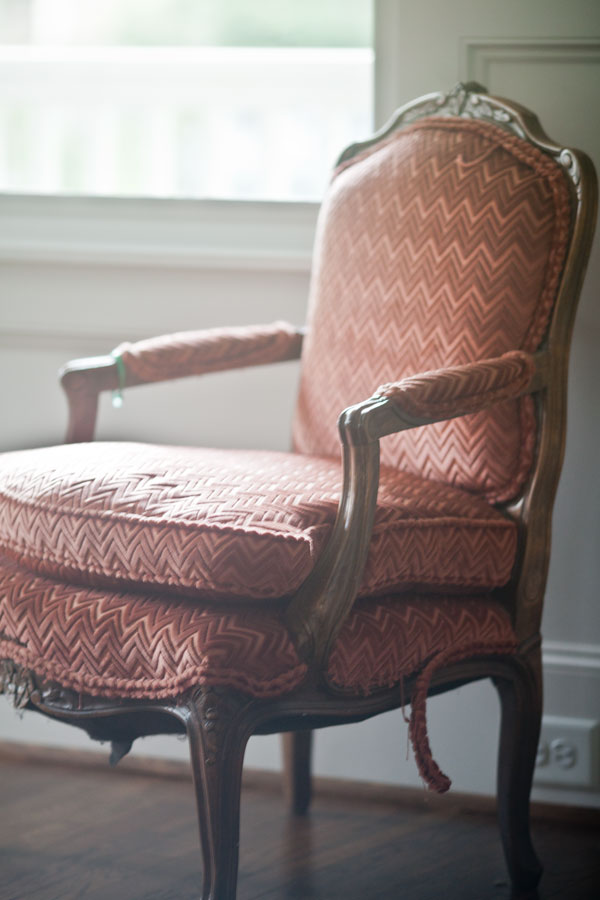 red-french-chair
