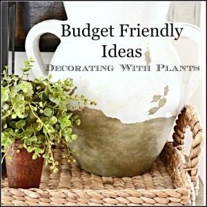 budget friendly ideas- decorating with plants-stonegableblog.com