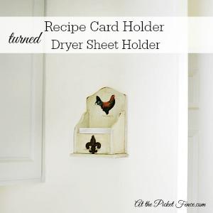 300x300 recipe card holder turned dryer sheet holder