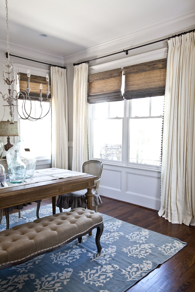 New Curtains for the Dining Room - Cedar Hill Farmhouse