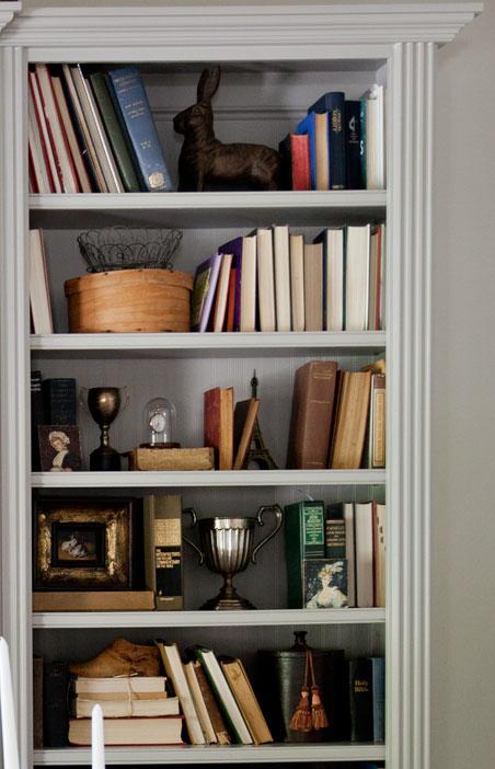 original right side of bookcase
