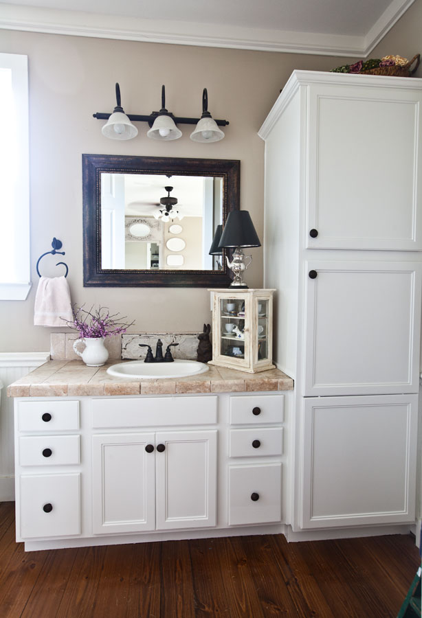white bathroom cabinets designs html with Farmhouse Bathroom Reveal on Fired Earth Products likewise Sweden3 Bathroom Mirror In White With Shelf P 13560 together with Interior Dulux Color Chart And Catalogue also Farmhouse Bathroom Reveal furthermore 695b5abd030a2fc3.