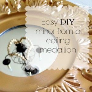 Easy DIY mirror from ceiling medallion