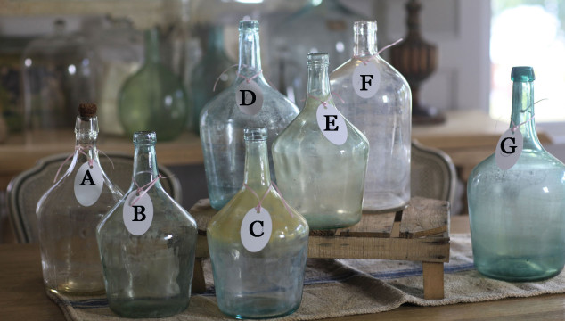 Vintage Grainsacks and Bottles and More