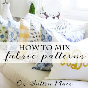 5 tips for mixing fabric patterns