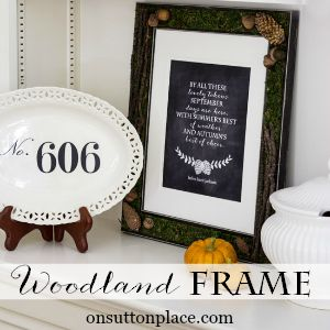 diy woodland frame fall on sutton place