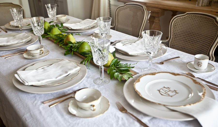 gold-and-white-table