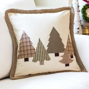 diy no sew christmas tree pillow