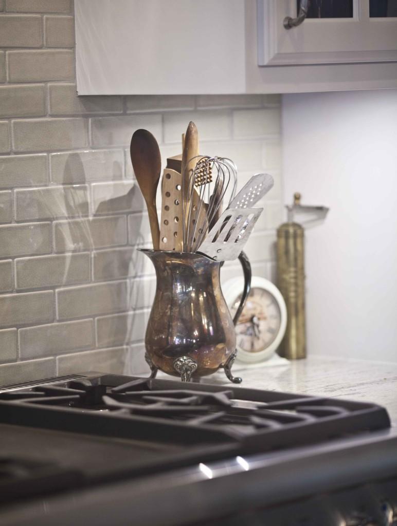 silver pitcher utensil holder