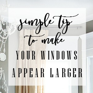 simple tip to make your windows appear larger
