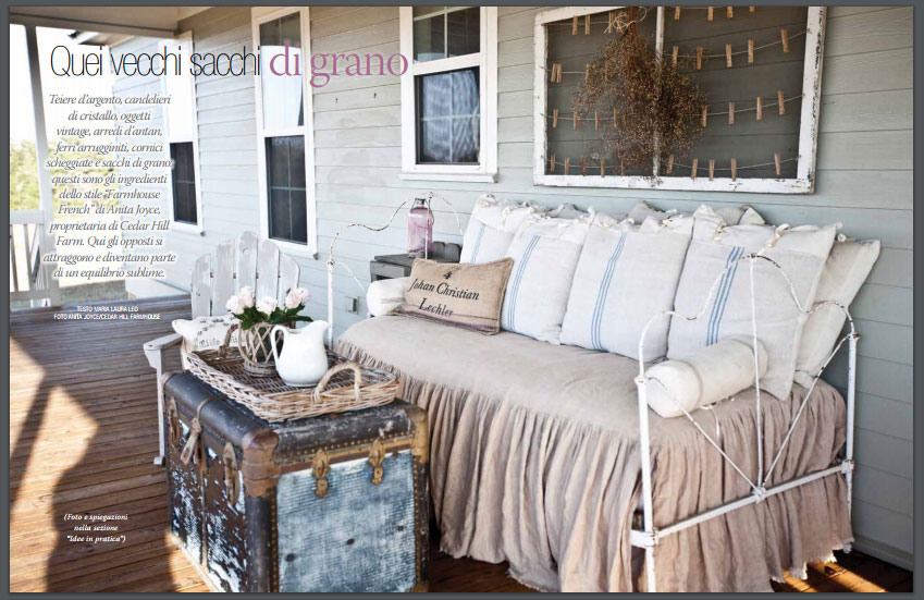 New feature in country french magazine cedar hill farmhouse - Magazine maison chic ...