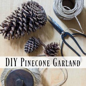 diy pinecone garland on sutton place