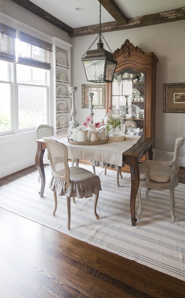 french-table-on-white-and-blue-rug-cedar-hill-farmhouse
