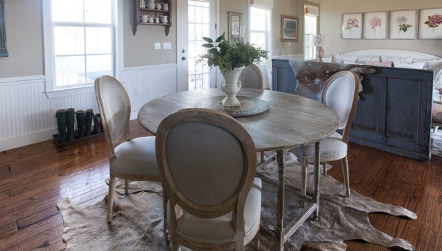 Can you use Cowhide Rugs in a Country French Room