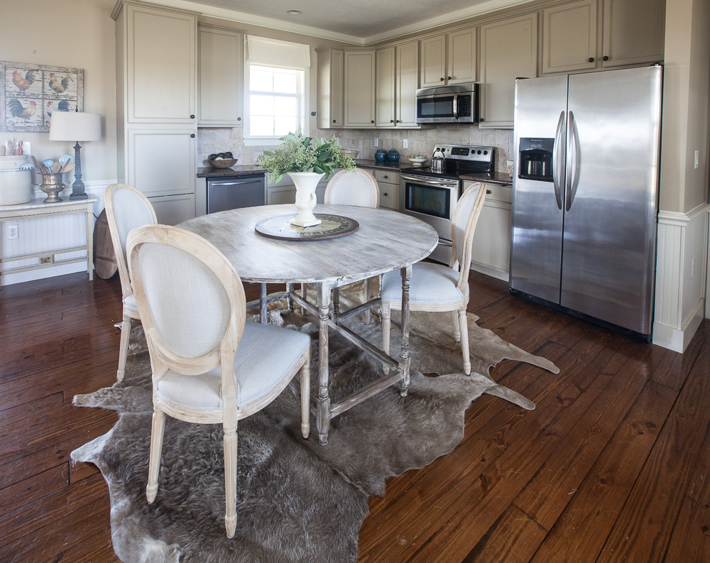We Ve Had Plenty Of Spills On The Other Cowhide Rugs But No Stains I Think This Softer Color Works Well In Kitchen