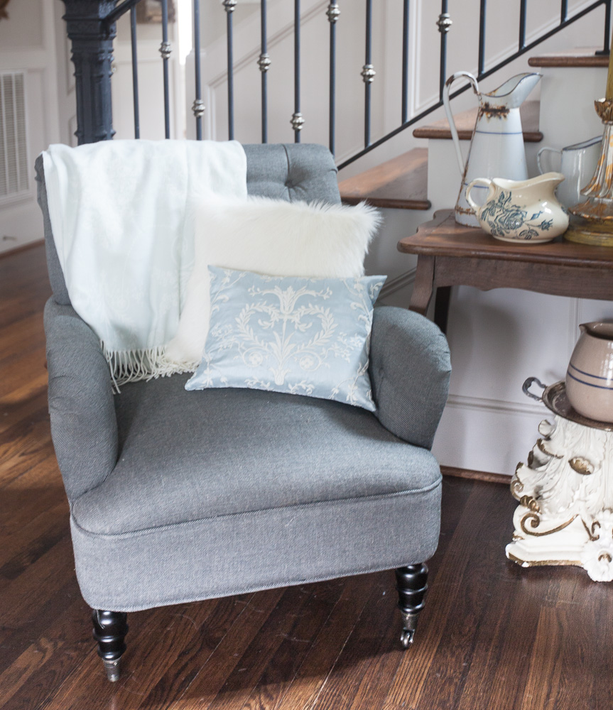The Gray Will Also Go With Many Colors So I Can Change Out The Pillows And  Throws When I Want A New Look. Below I Am Showing The Chair With A Lovely  ... Awesome Design